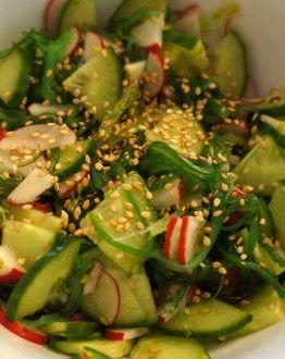 Salade met zeewier