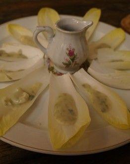 Lofblaadjes met blauwe kaas