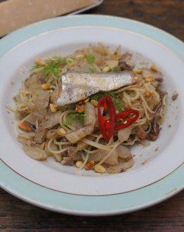 Siciliaanse sardine spaghetti