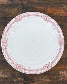 Set van 4 platte borden Carina U&C Sarreguemines bovenkant