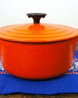 Oranje stoofpannetje Le Creuset maat B