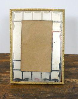 Fotolijstje met spiegelpaspartout voorkant
