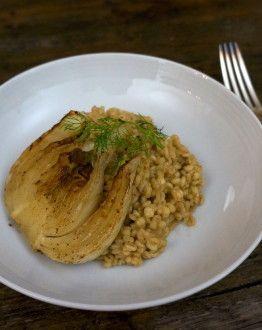 Gort risotto met roquefort en venkel