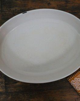 Bruine ovale ovenschaal Le Creuset maat 36