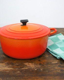 Oranje Le Creuset casserole maat D