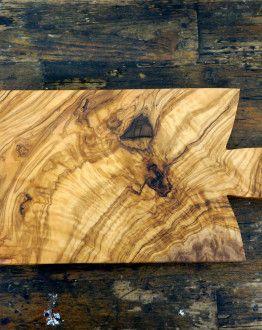 Rechthoekige olijfhouten borrelplank 26 cm x 18 cm x 2,5 cm